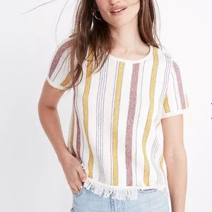 madewell blakely stripe sweater tee